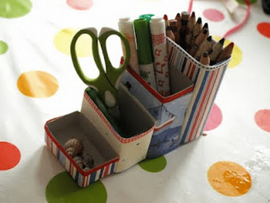 Cereal Box Pencil Pots
