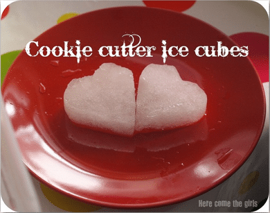 Cookie cutter ice cubes