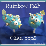Rainbow Fish cake pops