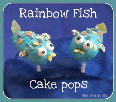 Rainbow Fish cake pops