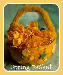 Papier-mâché Spring Baskets