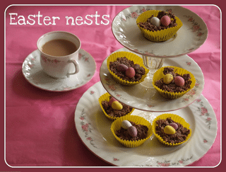 Toddler baking: Easter Nests