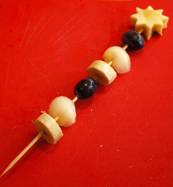 Fairy Wand fruit kebabs