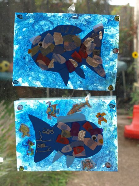 The Rainbow Fish Window Art
