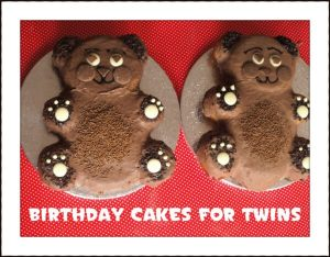 twin birthday cake