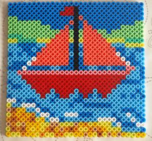 hama beads - boat