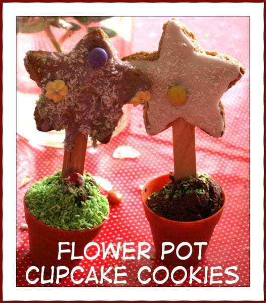 Flower pot cookie cakes – Recipe