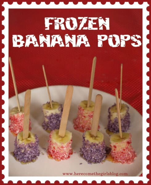 Frozen Banana Pops Recipe