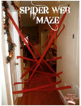 Spider web maze