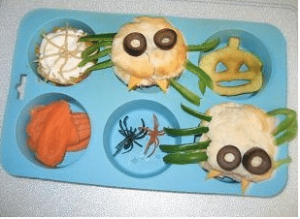 Spider Muffin tin lunch