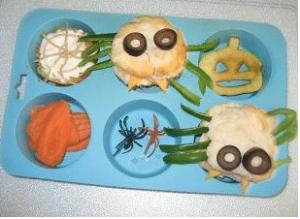 Spider Muffin tin lunch