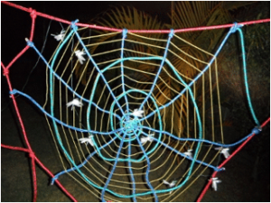 Spider web obstacle course