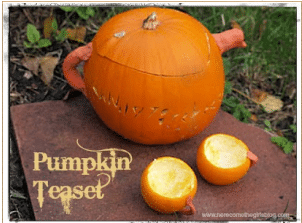 Pumpkin tea set