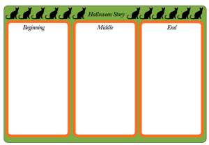 Halloween Cat Planning sheet