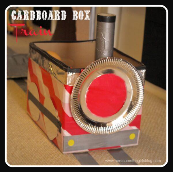 Cardboard Train Cardboard Box Train