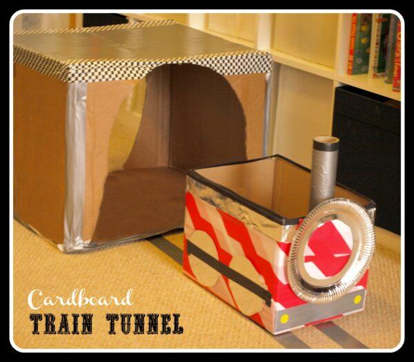 Cardboard Train Cardboard Box Train And Tunnel