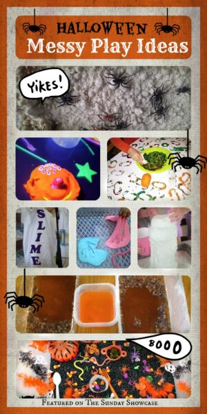 Halloween messy play