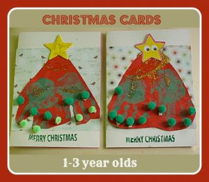 easy Christmas cards for toddlers