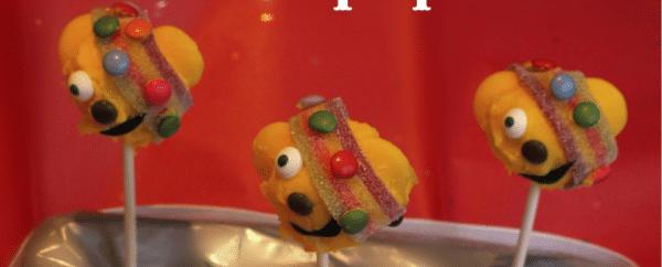 Pudsey cake pops