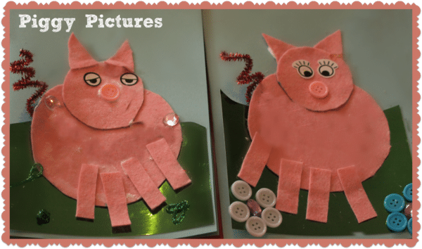 pig pictures by 2 year olds