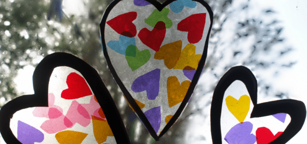 Easy Heart Window Decorations
