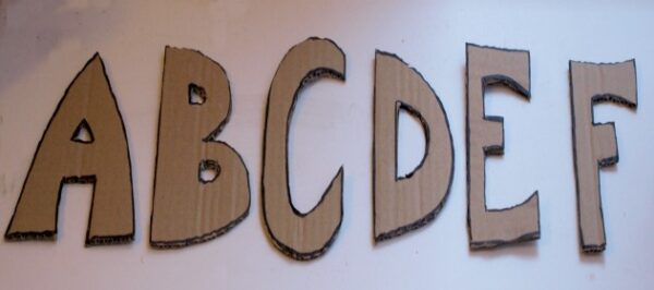 ABC's of Cardboard Creations – A-F