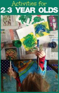 Fun crafts and learning activities for 2-3 year olds