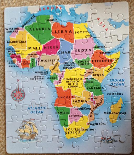 africa map jigsaw
