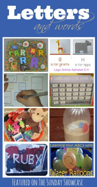 8 FUN ways to learn your letters and words. Great early literacy ideas.