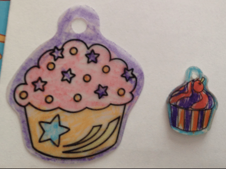Cupcake shrinking craft