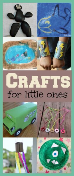 10 fun and easy ideas for crafting with little ones.