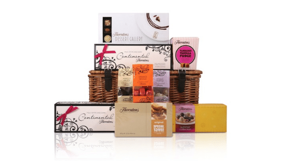 Win A Taste of Thorntons Wicker Basket Hamper
