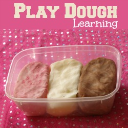 Play dough learning
