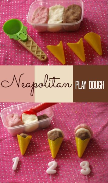 Learn to count using Neapolitan ice cream play dough