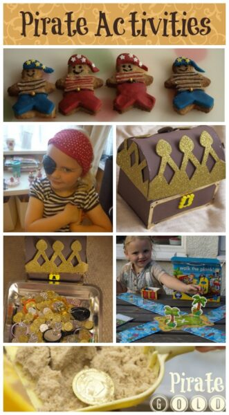 A round up of fun pirate activities for kids