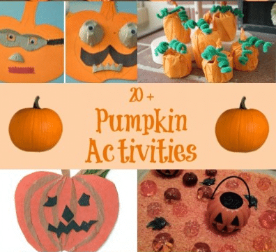 25 Pumpkin activities for kids.