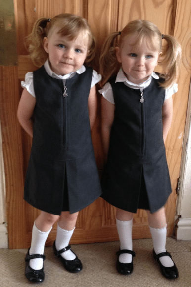 first day of school for twins