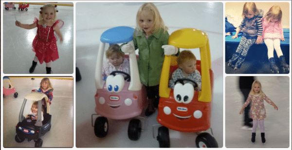 Ice skating toddlers
