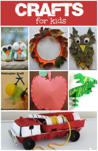 Fun crafts for kids. Some great new ideas for making things.