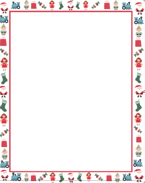 Santa Border For Letters letters to santa (with free template) - here ...