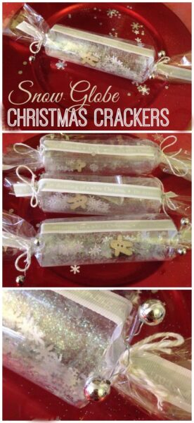 These are simply stunning! Crackers which double up as snow globes. So beautiful yet really easy to make.