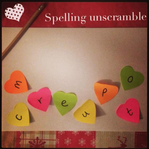 Spelling Unscramble