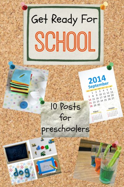 Fun activities to prepare for school