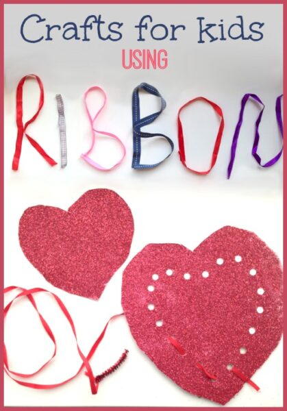 Do you wonder what to make with ribbon? Activities for kids using ribbons
