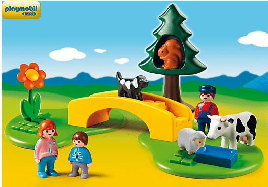 playmobil meadow path