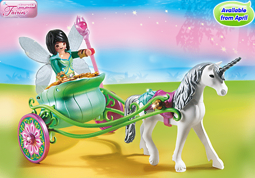 Playmobil Unicorn carriage and butterfly fairy