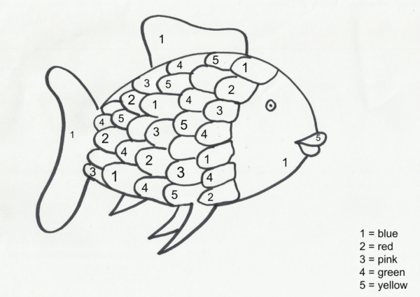 Rainbow Fish Printables on Easter Coloring Pages