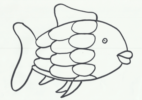 rainbow fish coloring pages for preschooler Coloring4free ... | 665x948
