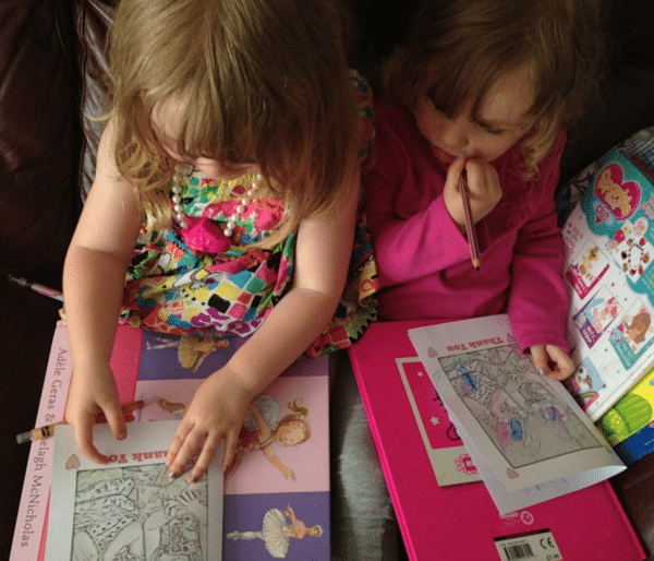 twins colouring