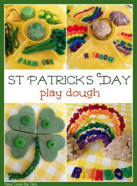 St patrick's day play dough